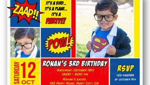 Superman 1st Birthday Invitations Superman Birthday Invitation with Photo Printable Boy Girl
