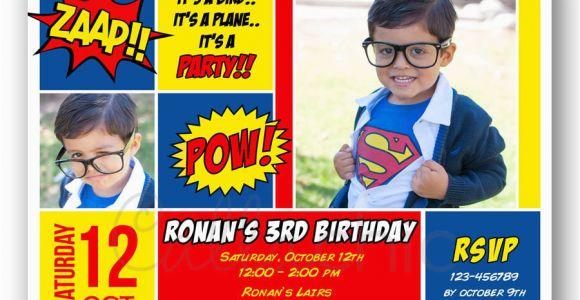 Superman 1st Birthday Invitations Superman Birthday Invitation with Photo Printable Boy Girl
