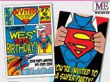 Superman Birthday Invites Batman Invitations Metro Designs and Metro events