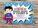 Superman Birthday Invites Superman Birthday Invitation Personalized Superman Invite