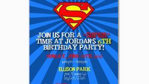 Superman Birthday Invites Superman Birthday Party Invitation Custom for Allison Schall