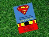 Superman Birthday Invites Superman Birthday Printable Invitation Super Heroe Invitation