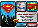 Superman Birthday Invites Superman First Birthday Party Mommy Connections