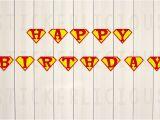 Superman Happy Birthday Banner Printable Superman Happy Birthday Banner Small Diy Digital