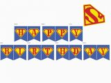 Superman Happy Birthday Banner Superhero Archives Page 3 Of 3 Magical Printable