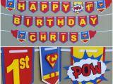 Superman Happy Birthday Banner Superman Happy Birthday Banner Superman Banner Superman