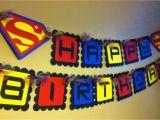 Superman Happy Birthday Banner Superman Inspired Happy Birthday Banner