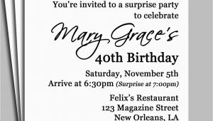 Suprise Birthday Party Invitations Black Damask Surprise Party Invitation Printable or Printed