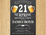 Surprise 21st Birthday Invitations 21st Birthday Invitation Cheers Beers Invite Surprise