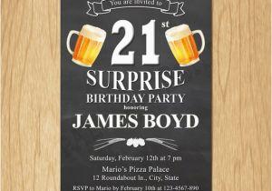 Surprise 21st Birthday Invitations 21st Birthday Invitation Cheers Beers Invite Surprise