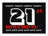 Surprise 21st Birthday Invitations 21st Surprise Birthday Party Invitation Template Zazzle