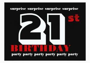 Surprise 21st Birthday Invitations Party Invitation Template Zazzle