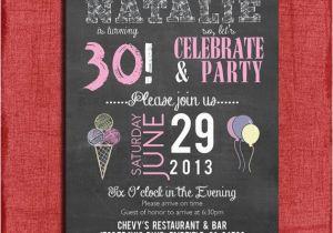 Surprise 21st Birthday Invitations Surprise 21st 30th 40th 50th Chalkboard Style Birthday