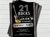 Surprise 21st Birthday Invitations Surprise 21st Birthday Invitation 21 Rock and Roll Music Base