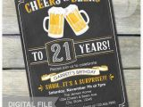 Surprise 21st Birthday Invitations Surprise 21st Birthday Invitation Cheers Beers Invite
