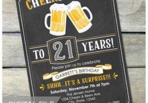 Surprise 21st Birthday Invitations Surprise 21st Birthday Invitation Cheers Beers Invite