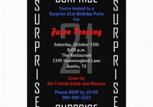 Surprise 21st Birthday Invitations Surprise 21st Birthday Party Invitation 21 Zazzle