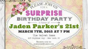 Surprise 21st Birthday Invitations Surprise 21st Birthday Party Invitation Digital Printable