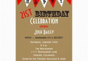 Surprise 21st Birthday Invitations Surprise 21st Birthday Party Invitations Bunting Zazzle