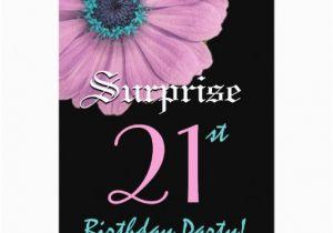 Surprise 21st Birthday Invitations Surprise 21st Birthday Template Pink Daisy 5 Quot X 7