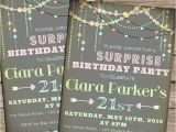 Surprise 21st Birthday Invitations Surprise Birthday Invitations Sweet 16 21st 30th or Any