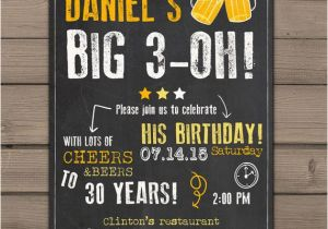 Surprise 30 Birthday Invitations 30th Invitation Party Cheers And Beers
