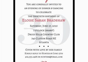 Surprise 30 Birthday Invitations Classic 30th Red Paperstyle
