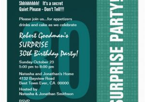 Surprise 30th Birthday Invitations For Him Modern Recycled 5 25x5 25