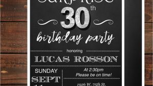 Surprise 30th Birthday Invitations for Him Surprise 30th Birthday Invitations for Him by