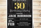 Surprise 30th Birthday Invitations for Men 30th Birthday Surprise Party Gold Black Mens 30th