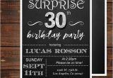 Surprise 30th Birthday Invitations for Men Surprise 30th Birthday Invitations for Him Mens 30th Birthday