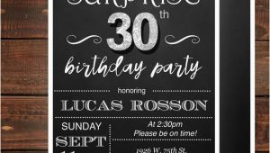 Surprise 30th Birthday Invitations for Men Surprise 30th Birthday Invitations for Him Mens 30th Birthday