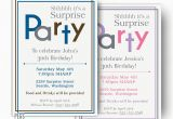 Surprise 30th Birthday Invitations for Men Surprise Birthday Invitations for Men or Women Printable