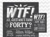 Surprise 40th Birthday Invites 40th Birthday Party Invitation who 39 S Turning 40 Wtf