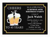 Surprise 40th Birthday Invites Cheers Surprise 40th Birthday Party Invitations Zazzle