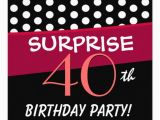 Surprise 40th Birthday Invites Most Popular 40th Birthday Party Invitations