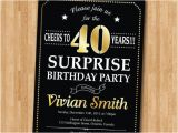 Surprise 40th Birthday Invites Surprise 40th Birthday Invitation 30th 50th 60th 70th 80th