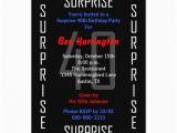 Surprise 40th Birthday Invites Surprise 40th Birthday Party Invitation 40 Zazzle