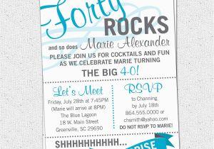 Surprise 40th Birthday Invites Party Invitations Wording Drevio