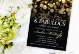 Surprise 55th Birthday Invitations Surprise 55th Birthday Party Invitation with Gold Glitter