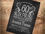 Surprise 60 Birthday Party Invitations Surprise 60th Birthday Invitation Any Age Digital