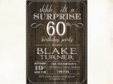Surprise 60 Birthday Party Invitations Surprise 60th Birthday Invitation Any Age Rustic Invite
