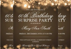 Surprise 60th Birthday Invitation Templates Free Printable Best