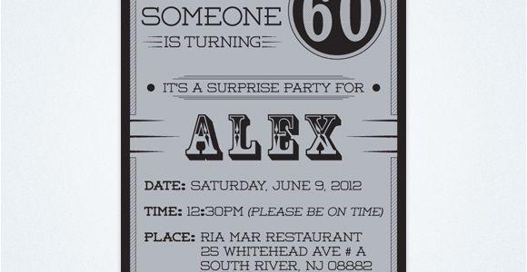Surprise 60th Birthday Invitation Templates Free Free Printable 60th Surprise Birthday Party Invitations