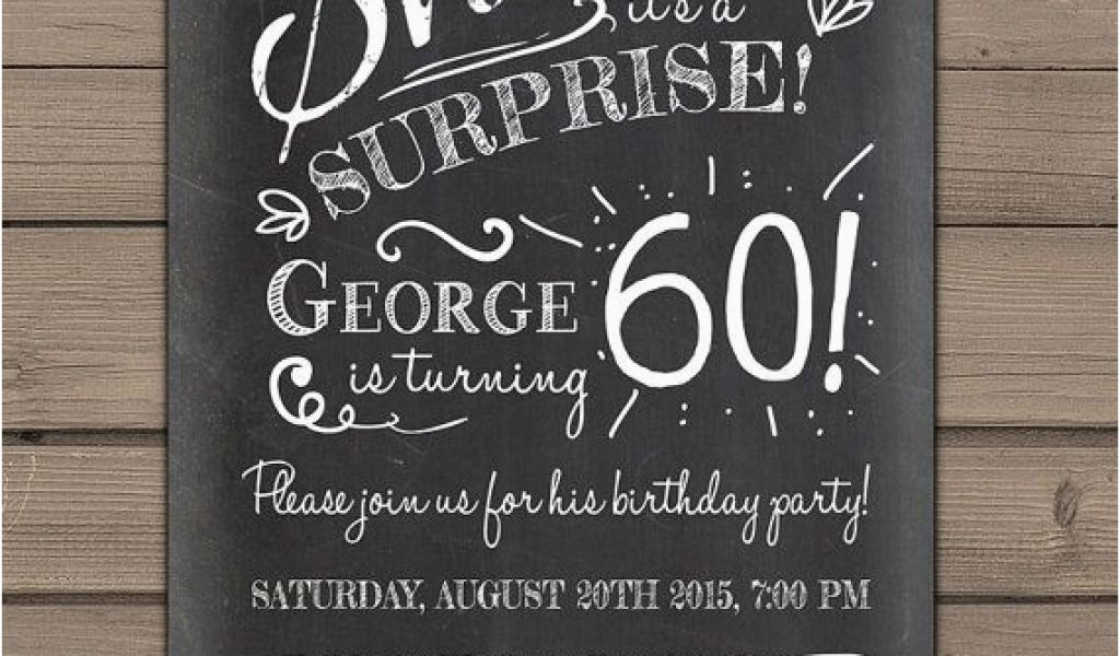 Download By SizeHandphone Tablet Desktop Original Size Back To Surprise 60th Birthday Invitation Templates Free
