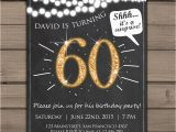 Surprise 60th Birthday Invitations Free 60th Birthday Invitation Gold Glitter Surprise Party