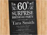 Surprise 60th Birthday Invitations Free Free 60th Surprise Invitation Template orderecigsjuice Info
