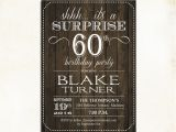 Surprise 60th Birthday Invitations Free Surprise 60th Birthday Invitation Any Age Rustic