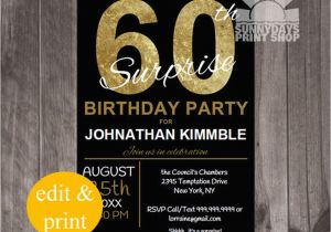 Surprise 60th Birthday Party Invitation Wording 20 Ideas Invitations Card Templates