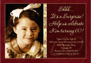 Surprise 60th Birthday Party Invitation Wording Invitations Drevio